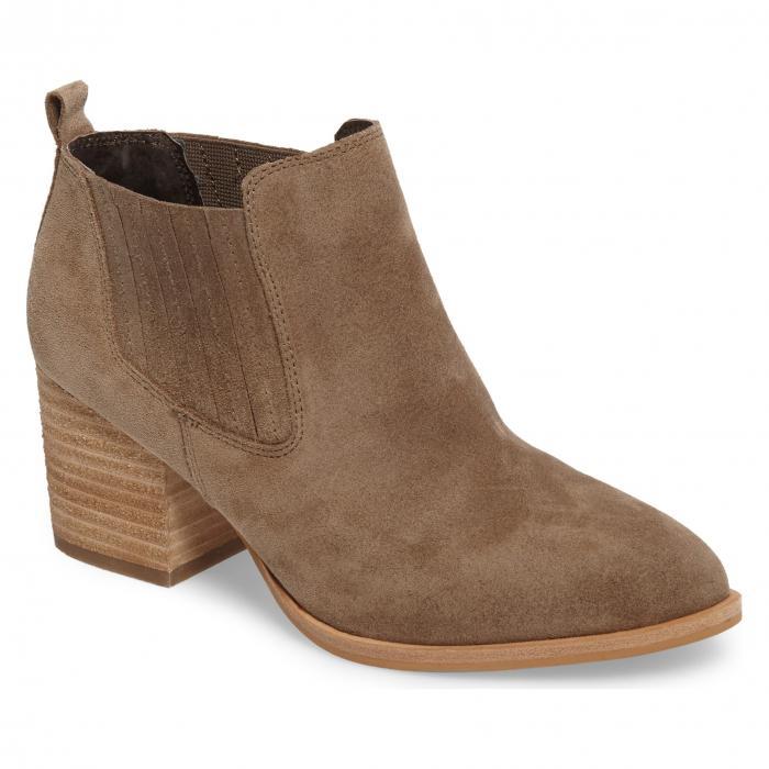 ライト GRAY灰色 グレイ スエード スウェード ISOL シューズ レディース靴 靴 ブーツ 【 GREY OLICIA GORED BOOTIE MARMOTTA LIGHT SUEDE 】