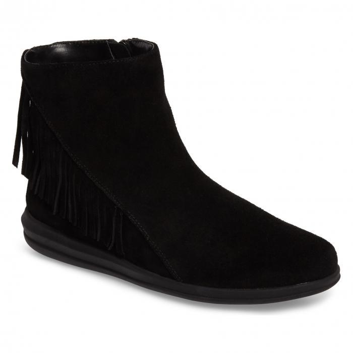 ダビデ テイト 黒 ブラック スエード スウェード シューズ 靴 ブーツ レディース靴 【 BLACK DAVID TATE ZEST BOOTIE SUEDE 】