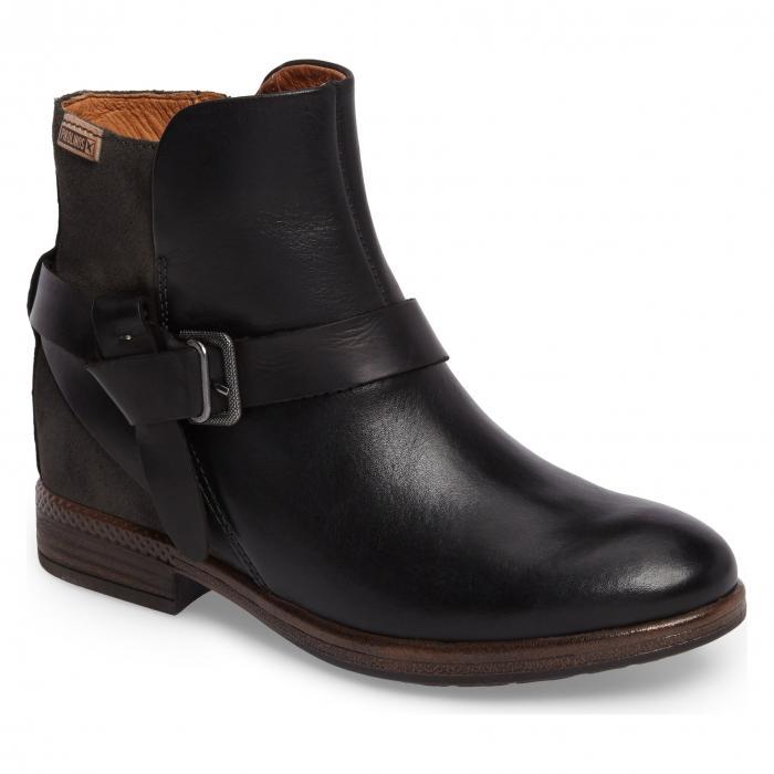 黒 ブラック リード レザー シューズ 靴 レディース靴 ブーツ 【 BLACK PIKOLINOS ORDINO BOOTIE LEAD LEATHER 】