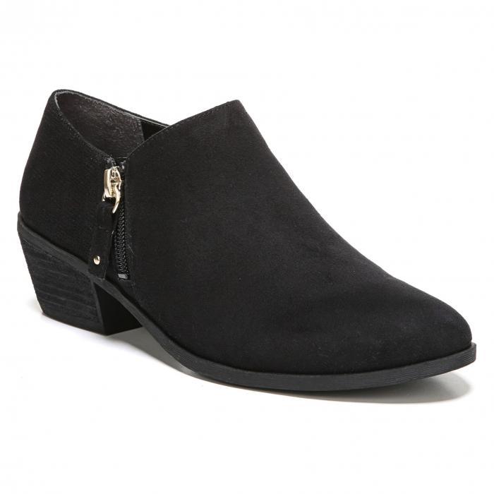 ブリーフ 黒 ブラック ファブリック DR. SCHOLL'S シューズ ブーツ レディース靴 靴 【 BLACK BRIEF BOOTIE FABRIC 】