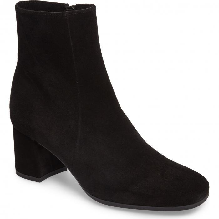 ジョジョ ウォータープルーフ 防水 ブーツ 黒 ブラック スエード スウェード シューズ 靴 レディース靴 【 BLACK LA CANADIENNE JOJO WATERPROOF BOOT SUEDE 】