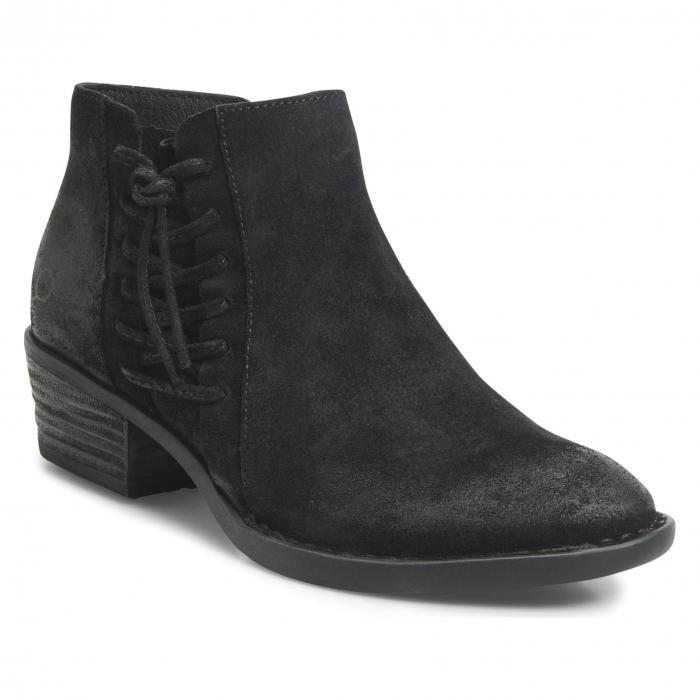 ボーン 黒 ブラック スエード スウェード B RN シューズ レディース靴 ブーツ 靴 【 BLACK BORN BESSIE BOOTIE SUEDE 】