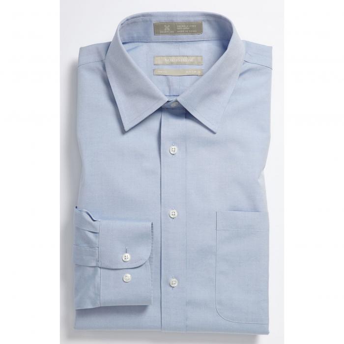 ショップ フィット ソリッド ドレス ワンピース シャツ 青 ブルー MEN'S SMARTCARE < SUP> トップス 長袖 メンズファッション ワイシャツ 【 SOLID BLUE NORDSTROM SHOP TRIM FIT DRESS SHIRT 】