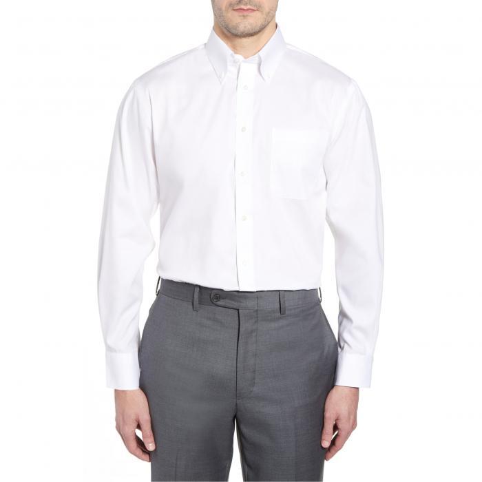 ショップ トラディショナル フィット ソリッド ドレス ワンピース シャツ 白 ホワイト MEN'S トップス 長袖 メンズファッション ワイシャツ 【 SOLID NORDSTROM SHOP TRADITIONAL FIT NONIRON DRESS SHIRT WHITE