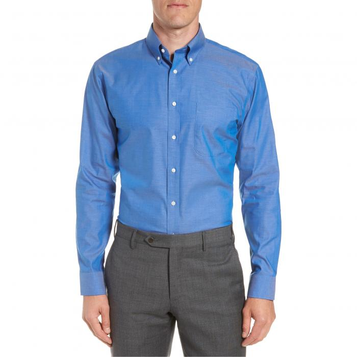 ショップ フィット ドレス ワンピース シャツ 青 ブルー フレンチ MEN'S トップス 長袖 ワイシャツ メンズファッション 【 BLUE NORDSTROM SHOP TRIM FIT NONIRON DRESS SHIRT FRENCH 】