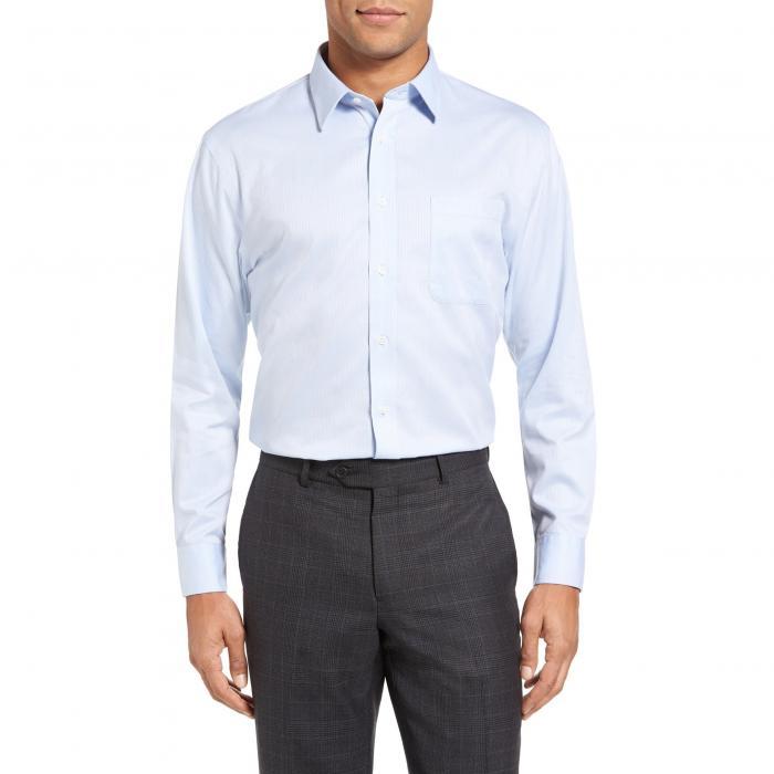 ショップ フィット ドレス ワンピース シャツ 青 ブルー MEN'S SMARTCARE < SUP> トップス 長袖 メンズファッション ワイシャツ 【 BLUE NORDSTROM SHOP TRIM FIT DRESS SHIRT 】