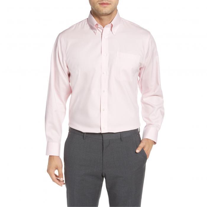 ショップ トラディショナル フィット ソリッド ドレス ワンピース シャツ ピンク MEN'S トップス 長袖 メンズファッション ワイシャツ 【 SOLID PINK NORDSTROM SHOP TRADITIONAL FIT NONIRON DRESS SHIRT NOSTALGIA