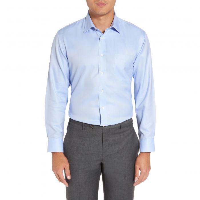 ショップ フィット ヘリンボーン ドレス ワンピース シャツ 青 ブルー MEN'S SMARTCARE < SUP> トップス 長袖 メンズファッション ワイシャツ 【 BLUE NORDSTROM SHOP TRIM FIT HERRINGBONE DRESS SHIRT 】