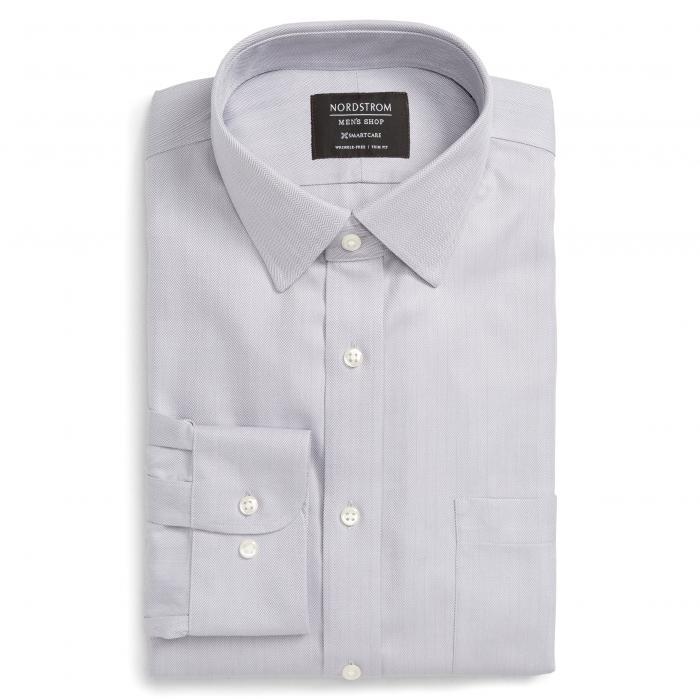 ショップ フィット ヘリンボーン ドレス ワンピース シャツ GRAY灰色 グレイ ディッセンバー MEN'S SMARTCARE < SUP> トップス 長袖 ワイシャツ メンズファッション 【 GREY NORDSTROM SHOP TRIM FIT HERRI