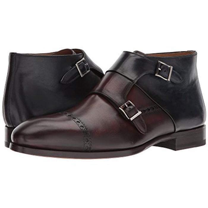 ミッド メンズ 男性用 メンズ靴 ブーツ 【 MAGNANNI RUIDOSO MID BROWN NAVY 】