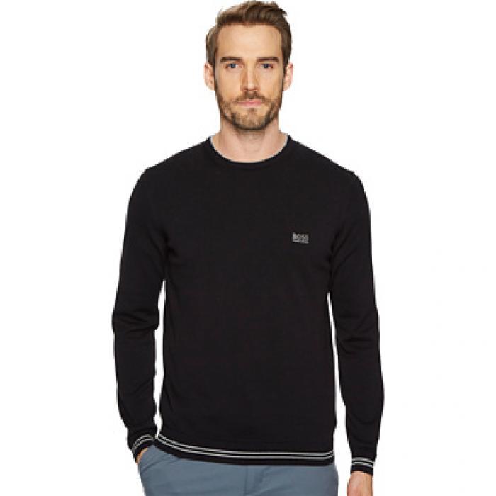 ボス 緑 グリーン 黒 ブラック RIME_S18 メンズ 男性用 メンズファッション セーター 【 GREEN BLACK BOSS 10204030 01 】