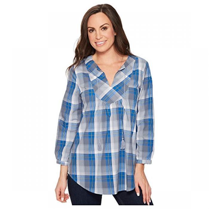 青 ブルー GRAY灰色 グレイ レディース 女性用 シャツ レディースファッション 【 BLUE GREY ROPER 1262 PLAID 】