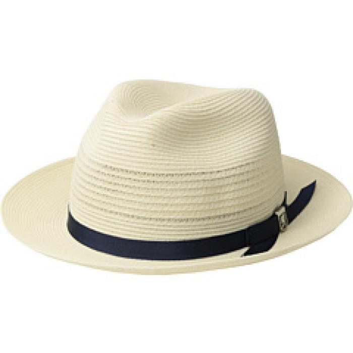 アダムス ポリ アイボリー メンズ 男性用 メンズ帽子 帽子 【 STACY ADAMS VENTED POLY BRAID FEDORA IVORY 】