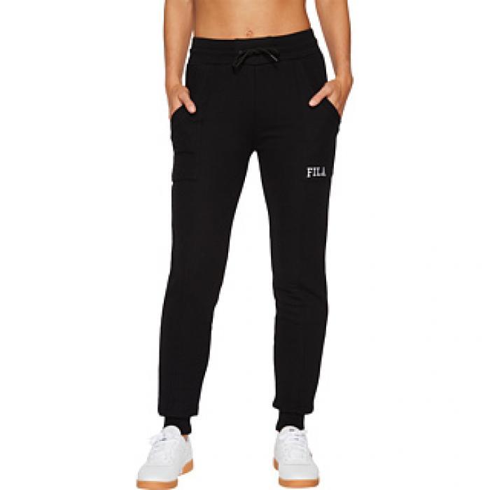 76135397385 フィラ ジョガー 黒 ブラック レディース 女性用 ボトムス パンツ 【 BLACK FILA GWEN JOGGER 】