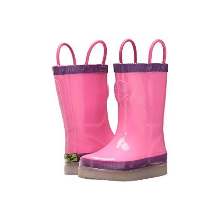 ウェスタン チーフ エルイーディー レイン ブーツ ピンク 子供用 ビッグキッズ ベビー キッズ 靴 マタニティ 【 PINK WESTERN CHIEF KIDS LED LIGHTED RAIN BOOTS TODDLER 】