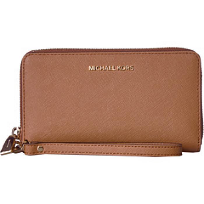 a67ca82647e0 マイケルコースラージフラットマルチファンクションフォンケースタイル青ブルーレディース女性用財布小物