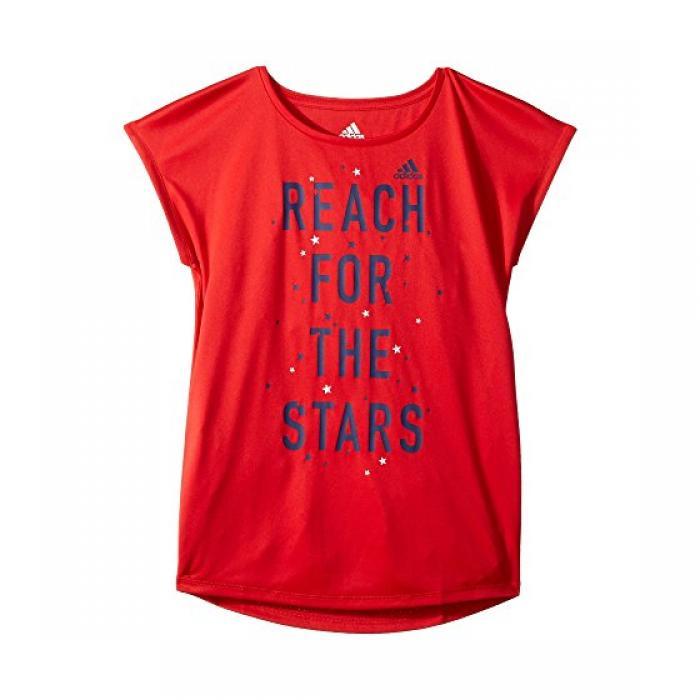 アディダス グラフィック Tシャツ ブライト 赤 レッド 子供用 ビッグキッズ トップス ベビー 【 ADIDAS KIDS GRAPHIC TEE BRIGHT RED 】