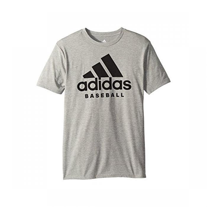 アディダス ベースボール スポーツ Tシャツ GRAY灰色 グレイ 子供用 ビッグキッズ カットソー トップス 【 ADIDAS GREY KIDS BASEBALL SPORT TEE 】