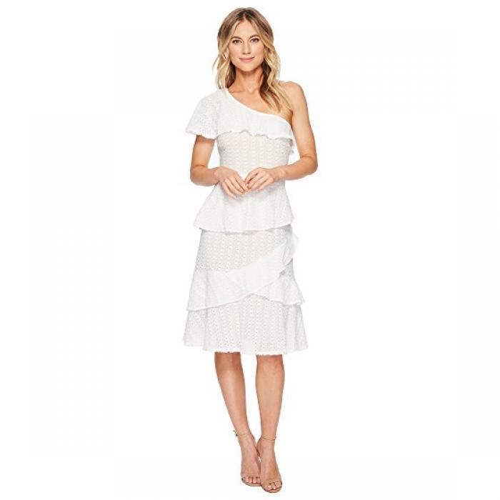 レイ ショルダー ドレス ワンピース 白 ホワイト レディース 女性用 レディースファッション 【 ADELYN RAE TRIXIE ONE SHOULDER DRESS WHITE 】