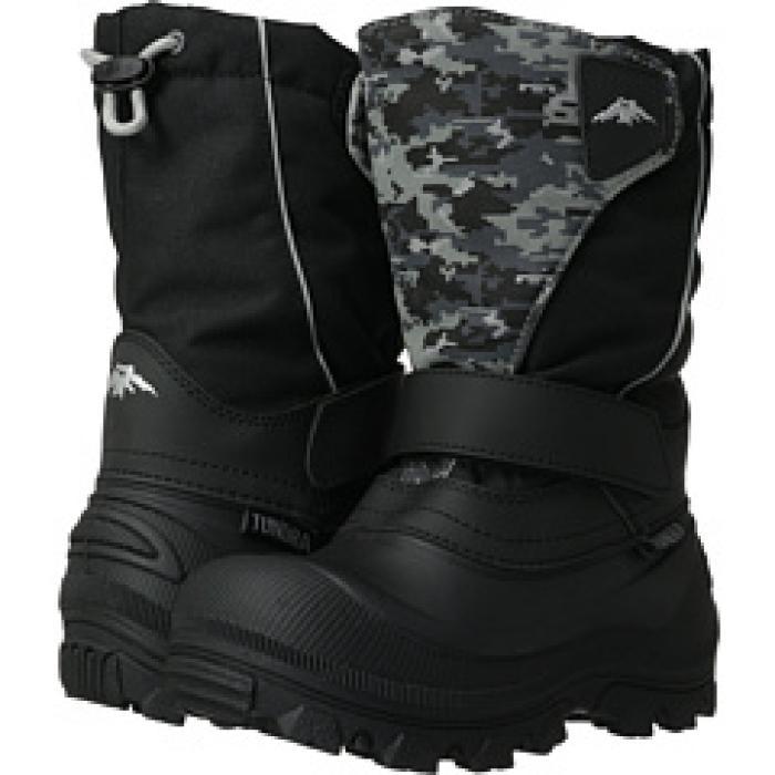 ブーツ ワイド 子供用 ビッグキッズ キッズ 靴 【 TUNDRA BOOTS KIDS QUEBEC WIDE TODDLER BLACK RED WEB 】
