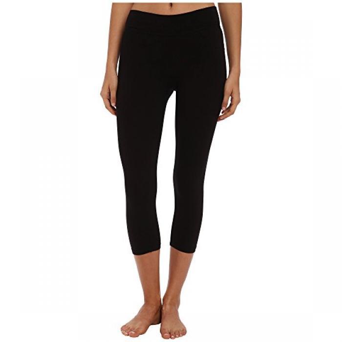 ベーシック クロップ レギンス パンツ 黒 ブラック レディース 女性用 レディースファッション ボトムス 【 CROP BLACK LAMADE BASIC LEGGINGS 】