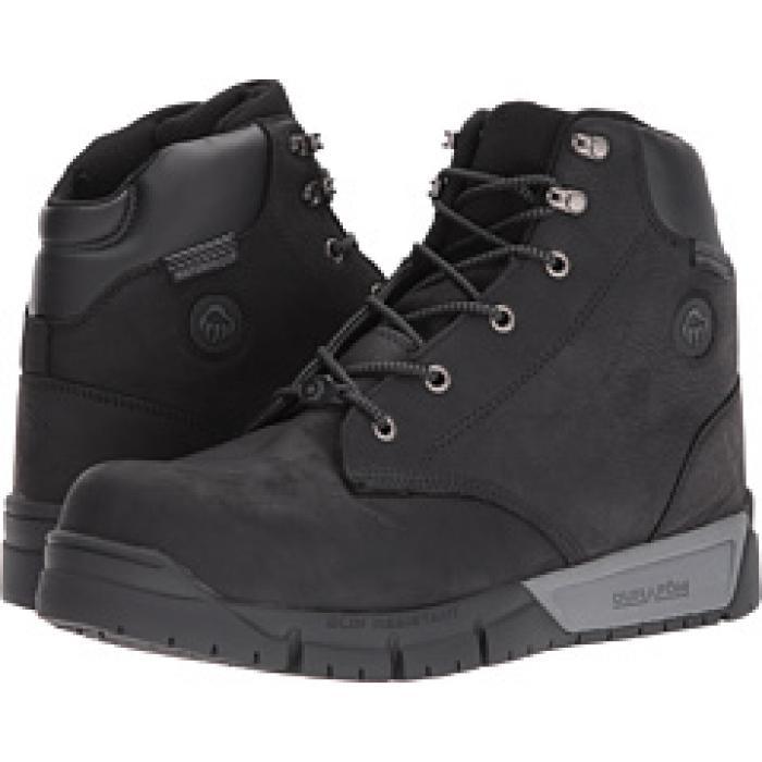 ミッド ブーツ 黒 ブラック メンズ 男性用 メンズ靴 【 BLACK WOLVERINE MAULER LX MID CARBONMAX BOOT 】