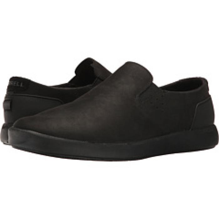 フリーホイール モック 黒 ブラック メンズ 男性用 メンズ靴 【 BLACK MERRELL FREEWHEEL MOC 】