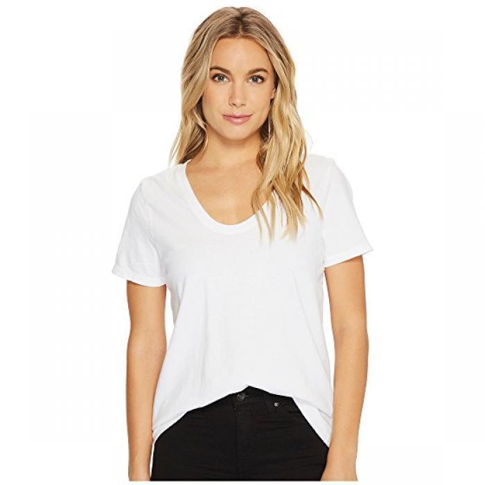スクープ Tシャツ オプティック 白 ホワイト レディース 女性用 レディースファッション 【 RICHER POORER SCOOP V TEE OPTIC WHITE 】