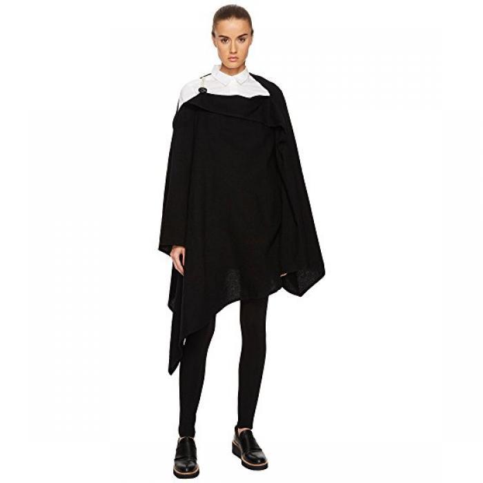 コード ケープ 黒 ブラック Y'S レディース 女性用 アウター レディースファッション 【 BLACK BY YOHJI YAMAMOTO ULINEN CODE CAPE 】