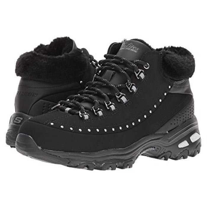 スケッチャーズ 黒 ブラック D'LITES レディース 女性用 ブーツ 【 BLACK SKECHERS GLEEFUL 】