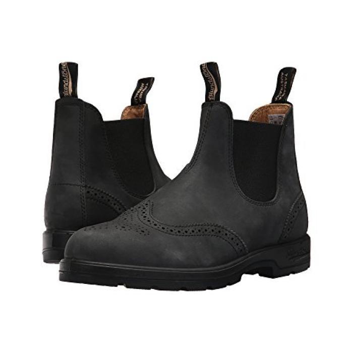 黒 ブラック ブローグ レディース 女性用 メンズ靴 靴 【 BLACK BLUNDSTONE BL1472 RUSTIC BROGUE 】