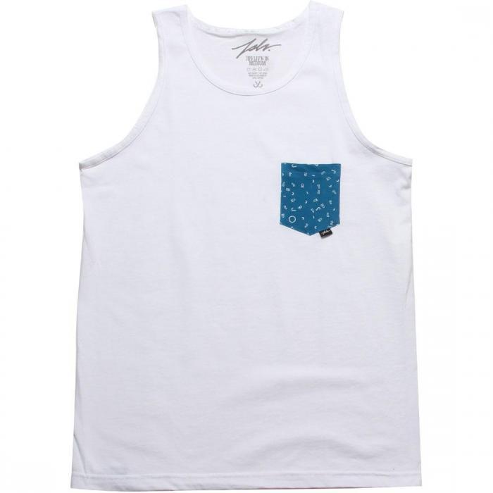 ファン ポケット タンクトップ トップ 白 ホワイト 紺 ネイビー メンズファッション トップス 【 NAVY JSLV FUN POCKET TANK TOP WHITE 】