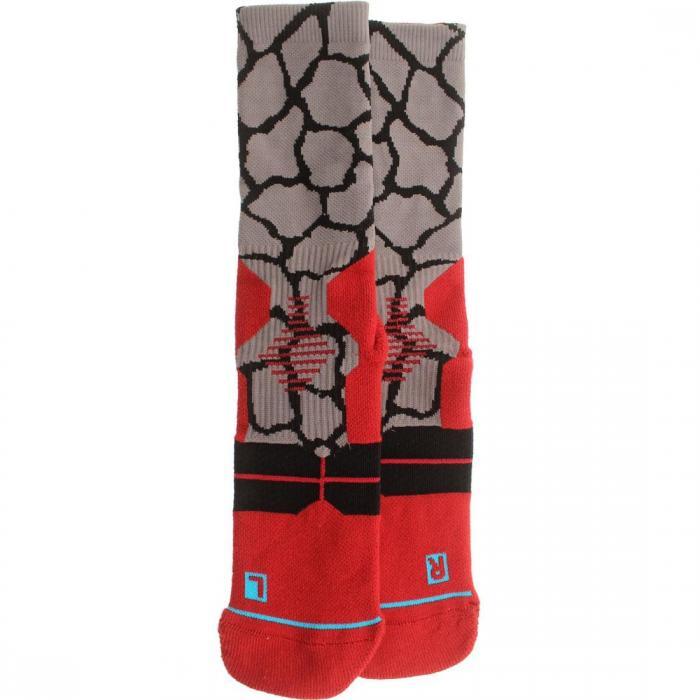 【海外限定】スタンス フュージョン バスケットボール ソックス 靴下 【 STANCE FUSION ZARAFA BASKETBALL SOCKS RED 】
