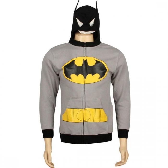【海外限定】ディーシー コミックス フーディー パーカー 【 DC COMICS BATMAN COSTUME HOODY GREY 】