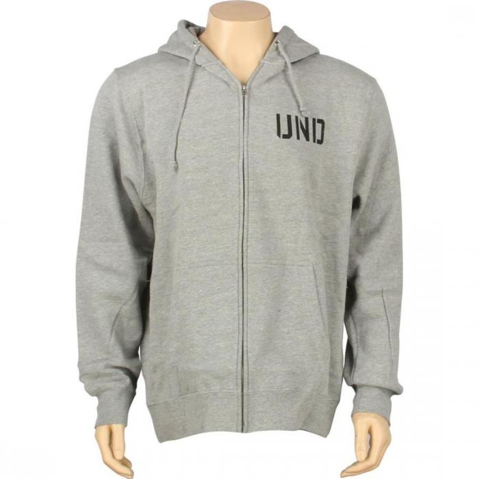 【海外限定】フーディー パーカー 【 UNDEFEATED UND ZIP HOODY GREY HEATHER 】
