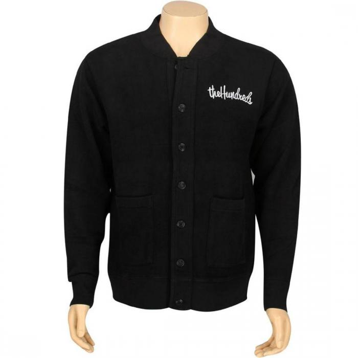 【海外限定】フリース 【 THE HUNDREDS GONE FLEECE CARDIGAN BLACK 】