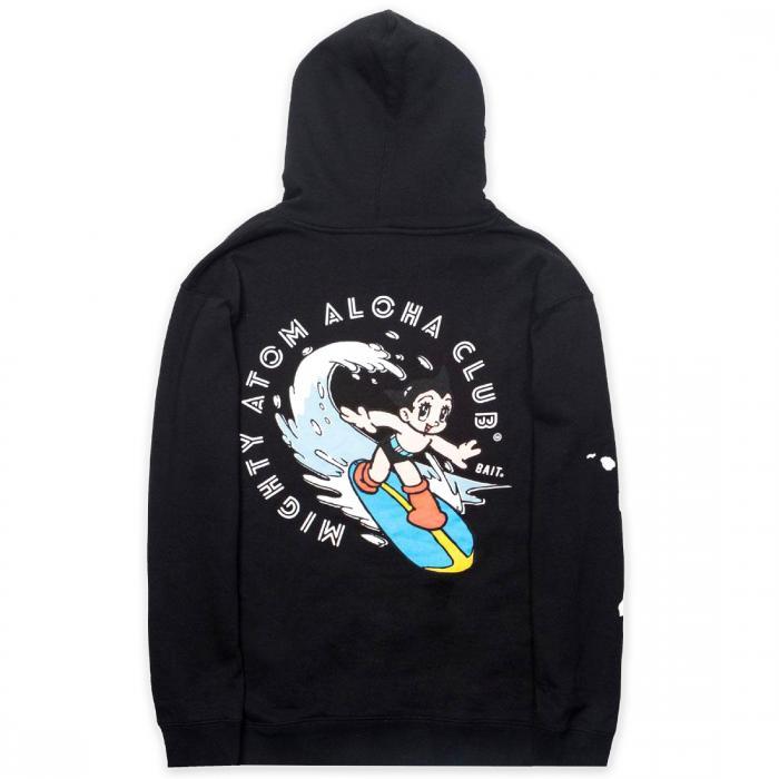 アストロ ボーイ メン サーフ フーディー パーカー 黒 ブラック ジャケット ベスト メンズファッション トップス 【 BLACK BAIT X ASTRO BOY MEN ALOHA SURF HOODY 】