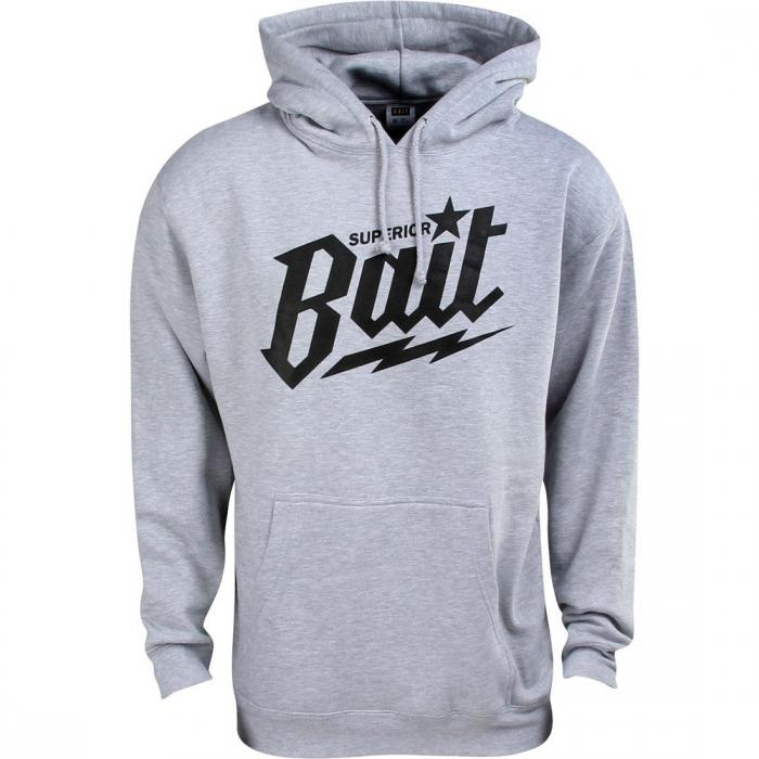 【海外限定】フーディー パーカー 【 BAIT SUPERIOR HOODY HEATHER BLACK 】