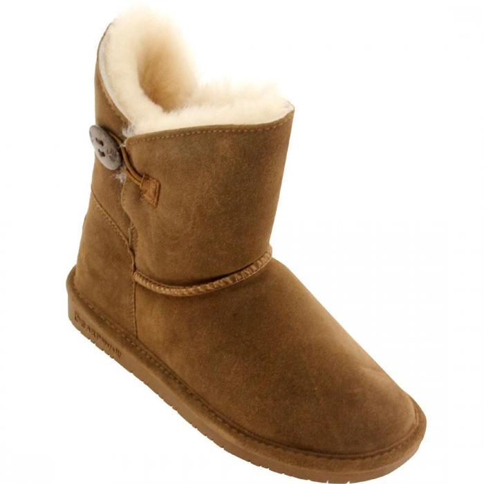 ウーメン ロージー ブーツ 茶 ブラウン ヒッコリー シューズ ムートンブーツ レディース靴 靴 【 BEARPAW WOMEN ROSIE BOOT BROWN HICKORY 】