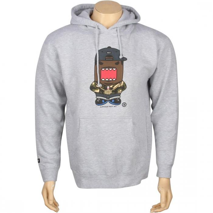 【海外限定】フーディー パーカー 【 BAIT X DOMO RAPPER HOODY GREY HEATHER 】