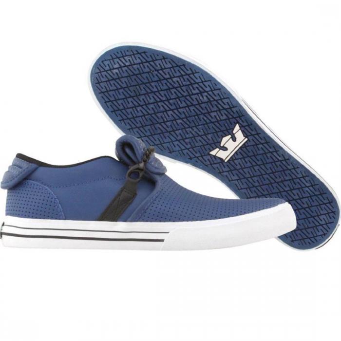 スープラ キューバン 青 ブルー レザー シューズ スニーカー 靴 メンズ靴 【 BLUE SUPRA CUBAN LEATHER 】