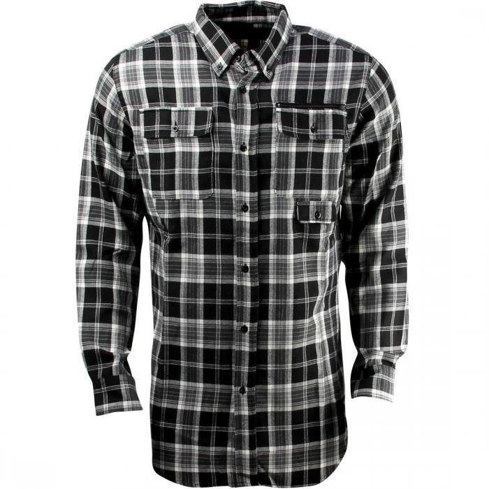 ウェスト ウーブン シャツ 黒 ブラック トップス 長袖 メンズファッション カジュアルシャツ 【 WOVEN BLACK UNYFORME WEST SHIRT 】