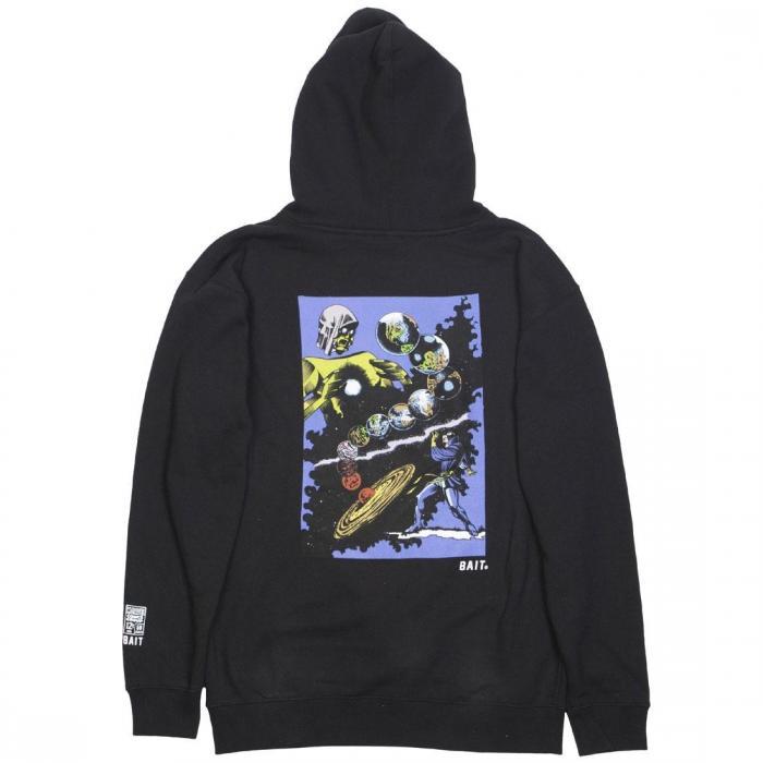 マーベル コミックス メン ドクター フーディー パーカー 黒 ブラック ジャケット ベスト メンズファッション トップス 【 BLACK BAIT X MARVEL COMICS MEN DR STRANGE HOODY 】