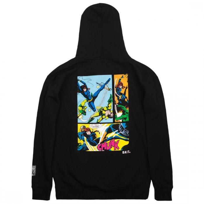 マーベル コミックス メン 黒 ブラック フーディー パーカー ジャケット ベスト トップス メンズファッション 【 BLACK BAIT X MARVEL COMICS MEN WIDOW HOODY 】