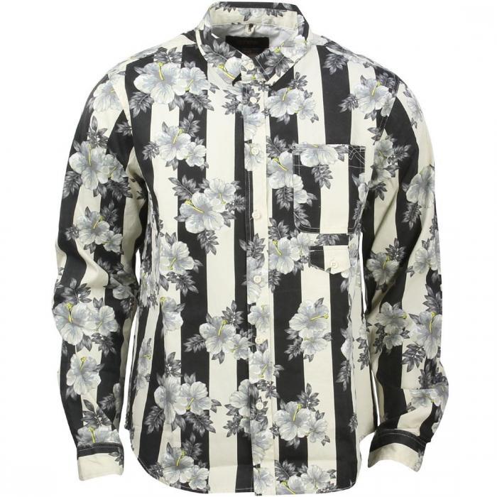 ディープ ボタンダウン ロング スリーブ シャツ 白 ホワイト トップス 長袖 カジュアルシャツ メンズファッション 【 SLEEVE 10 DEEP 16 BIT BUTTONDOWN LONG SHIRT WHITE HIBIS STRP 】