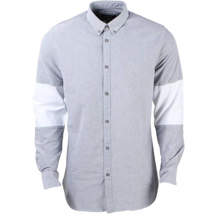 メン カットオフ シャツ 灰色 グレー グレイ 白 ホワイト トップス 長袖 メンズファッション カジュアルシャツ 【 GRAY ZANEROBE MEN CUTOFF 7FT SHIRT WHITE 】