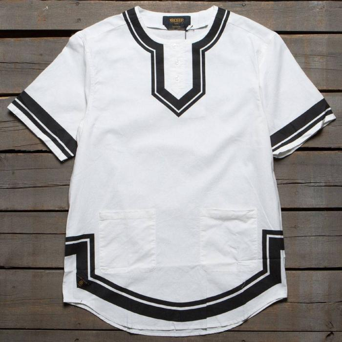 ディープ シャツ 白 ホワイト トップス 長袖 カジュアルシャツ メンズファッション 【 10 DEEP DVSN DASHIKI SHIRT WHITE 】