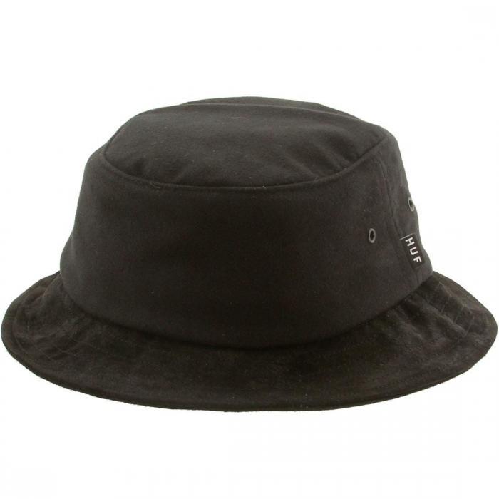 ハフ モールスキン バケツ ハット 黒 ブラック キャップ 帽子 ブランド雑貨 バッグ 小物 メンズ帽子 【 HUF BLACK MOLESKIN BUCKET HAT 】