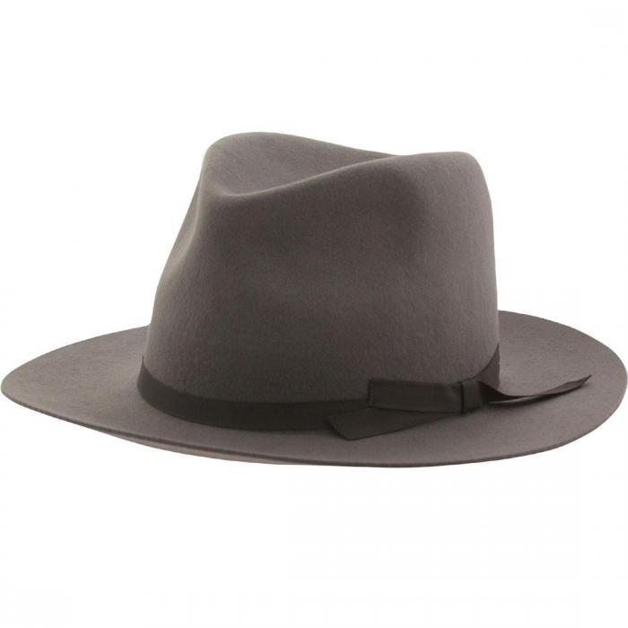 ブリクトン マンハッタン ハット 灰色 グレー グレイ ライト キャップ 小物 帽子 ブランド雑貨 メンズ帽子 バッグ 【 GRAY BRIXTON MANHATTAN FEDORA HAT LIGHT 】
