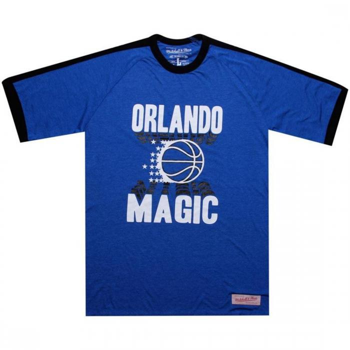 【海外限定】ミッチェル ネス オーランド マジック バック スクリーン Tシャツ 【 MITCHELL AND NESS ORLANDO MAGIC BACK SCREEN TEE BLUE 】